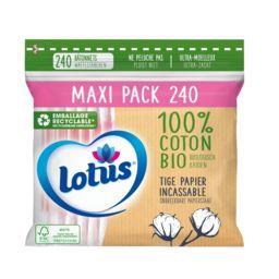 Lotus Lotus Coton-tiges Bio le sachet de 240 bâtonnets