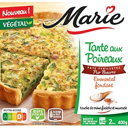 Marie Marie Tarte poireaux emmental pur beurre la tarte de 400g