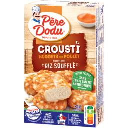Père Dodu Père Dodu Crousti Nuggets de poulet chapelure riz soufflé la boite de 200 g