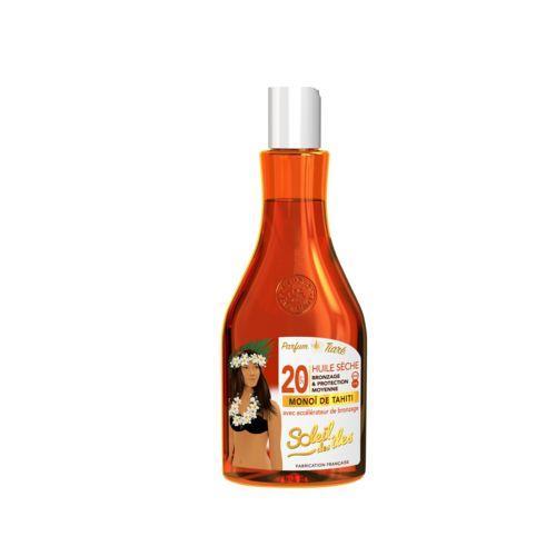Soleil Soleil des îles Huile sèche bronzage et protection moyenne SPF20 la bouteille de 150ml