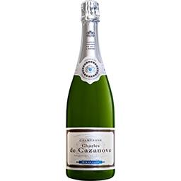 Charles de Cazanove Sélection Foire aux vins De Cazanove, Champagne brut 12%, AOP la bouteille de 75 cl