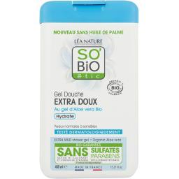 SO'BiO étic So'bio Etic Gel douche Extra Doux au gel d'Aloe vera BIO le flacon de 450 ml