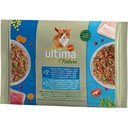 Ultima Ultima Nature bouchées pour chat thon & poissons de l'océan les 4 sachets de 85 g