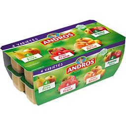 Andros Andros Dessert de fruits 4 variétés les 16 pots de 100 g