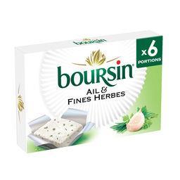 Boursin Boursin Fromage à tartiner ail & fines herbes les 6 portions de 16 g
