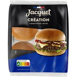 Jacquet Jacquet Pain burger création nature le paquet de 4 pains - 260g
