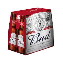 Budweiser Bud Bière les 6 bouteilles de 25 cl