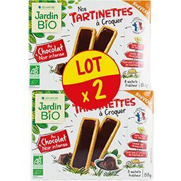 SO'BiO étic Jardin bio Tartinettes au chocolat noir intense BIO le lot de 2 boites de 138 g