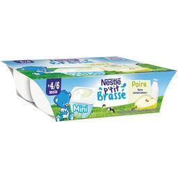 Nestlé Nestlé P'tit Brassé - Mini poire, dès 4-6 mois les 6 pots de 60 g