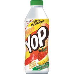 Yoplait Yoplait Yop - Yaourt à boire parfum fraise banane la bouteille de 850 g - Offre Découverte