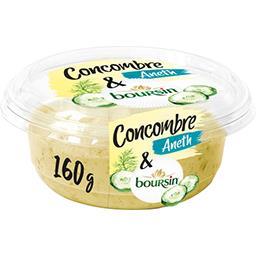 Boursin Boursin Tartinable apéritif concombre & aneth la barquette de 160 g