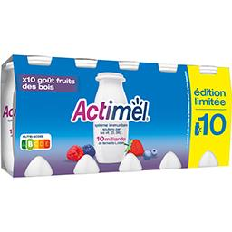 Actimel Danone Actimel - Lait fermenté à boire goût fruits des bois les 10 bouteilles de 100 g