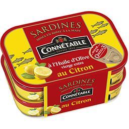 Connetable Connétable Sardines à l'huile d'olive au citron les 2 boites de 115 g