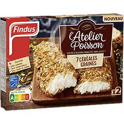Findus Findus L'Atelier Poisson - Colin d'Alaska 7 céréales & graines la boite de 2 - 250 g
