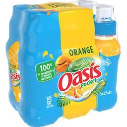 Oasis Oasis Pocket - Boisson à l'eau de source orange les 6 bouteilles de 25 cl