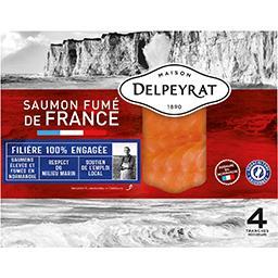 Delpeyrat Delpeyrat Saumon fumé de France le paquet de 4 tranches - 140 g