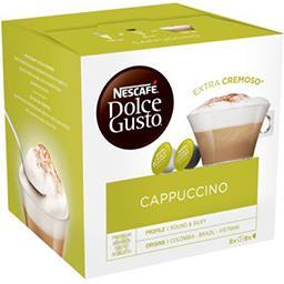 Nescafé Nescafé Dolce Gusto - Caspsules de café moulu Cappuccino les 16 capsules - 186,4 g