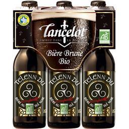 Brasserie Lancelot Lancelot Bière brune BIO les 3 bouteilles de 33 cl
