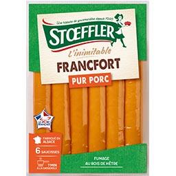 Stoeffler Stoeffler L'Inimitable Francfort pur porc le paquet de 6 - 240 g