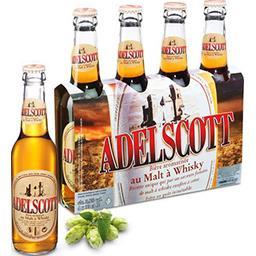 Adelscott Adelscott Bière aromatisée au malt à Whisky les 4 bouteilles de 33 cl