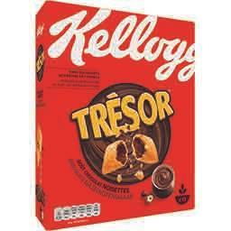 Kellogg's Kellogg's Trésor - Céréales Fourrées Chocolat Noisettes la boîte de 410g