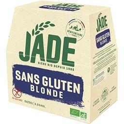 Jade Jade Bière blonde sans gluten les 6 bouteilles de 25 cl