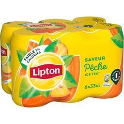 Lipton Lipton Ice Tea - Boisson saveur pêche les 6 canettes de 33cl