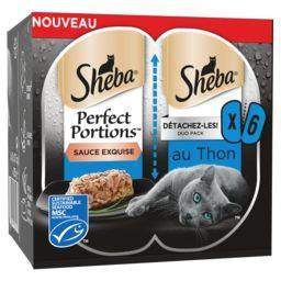 Sheba Sheba Perfect Portions - Emincés en sauce au thon pour chat les 6 portions de 37,5 g