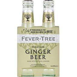 Fever Tree Fever-Tree Premium Ginger Beer les 4 bouteilles de 200 ml