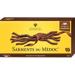 Margaux Chocolaterie de Margaux Sarments du Médoc fèves de cacao & fleur de sel la boite de 155 g