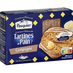 Pasquier Pasquier Tartine de pain campagne la boite de 20 tranches - 180 g