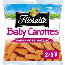 Florette Florette Baby Carrots, prêtes à croquer le sachet de 250 gr environ