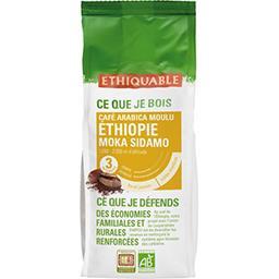 Ethiquable Ethiquable Café arabica moulu Ethiopie moka Sidamo BIO le paquet de 250 g