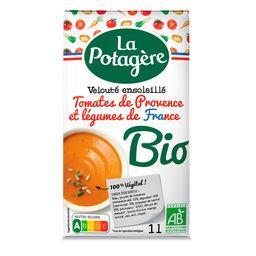 La Potagère La Potagère Velouté de tomates de Provence et légumes BIO la brique de 1 l