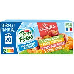 Materne Pom'potes Compote Pomme-Pomme, Mirabelle-Pomme, Abricot-Pomme, Pêche blanche le pack de 20x90g - 1.8kg