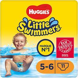 Huggies Huggies Little Swimmers - Maillots de bain jetables taille 5-6 : 12-18 kg le paquet de 11 couches