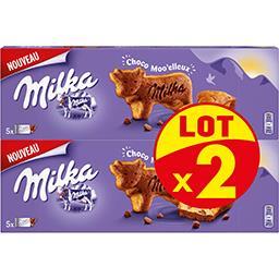 Milka Milka Gâteau Choco Moo'elleux les 2 paquets de 140 g