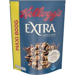 Kellogg's Kellogg's Extra - Céréales Chocolat au Lait la boîte de 800g