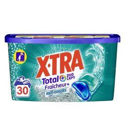 X•TRA X-Tra Total - Capsules de lessive Triocaps fraîcheur + anti-odeurs les 25 doses de 13 g