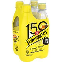 Schweppes Schweppes Indian Tonic - Soda aux extraits d'écorces de quinquina les 4 bouteilles de 50 cl