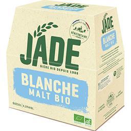 Jade Jade Bière malt BIO blanche les 6 bouteilles de 25 cl