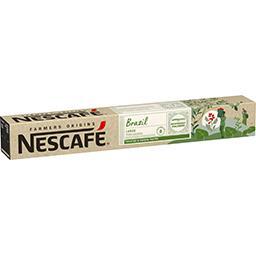 Nescafé Nescafé Farmers Origins - Capsules de café Lungo Brazil la boite de 10 capsules - 52 g