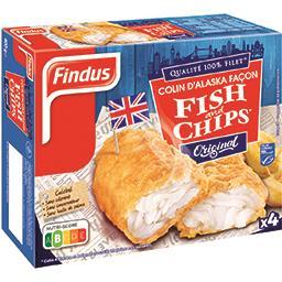 Findus Findus Colin d'Alaska façon Fish and Chips Original la boite de 4 - 400 g