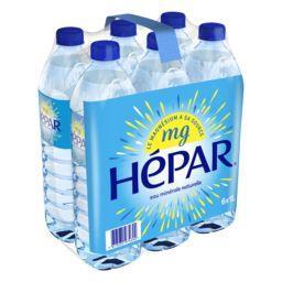 Hépar Hépar Eau minérale naturelle les 6 bouteilles de 1 l