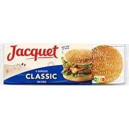Jacquet Jacquet Pain Burger Classic nature le paquet de 6 - 330 g