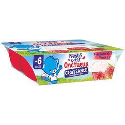 Nestlé Nestlé P'tit Onctueux Croissance - Fraise framboise, dès 6 mois les 6 pots de 60 g