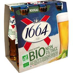 1664 1664 Bière blonde non filtrée Bio le pack de 6x25cl