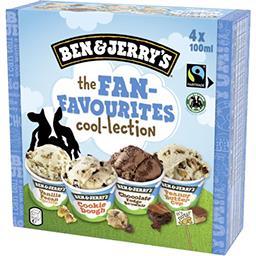 Ben & Jerry's Ben & Jerry's Assortiment de crèmes glacées The Fan-Favourite la boite de 4 pots - 400 ml