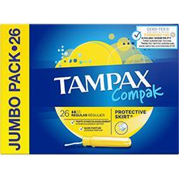 Tampax Tampax Tampons applicateur compak régulier La boîte de 26 tampons