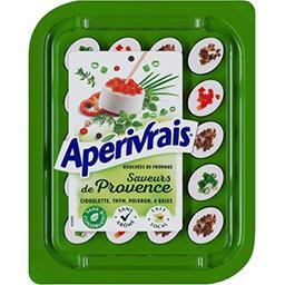 Apérivrais Apérivrais Bouchées de fromage saveurs de Provence la barquette de 100 g